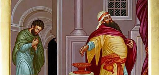 fariseo e pubblicano al tempio