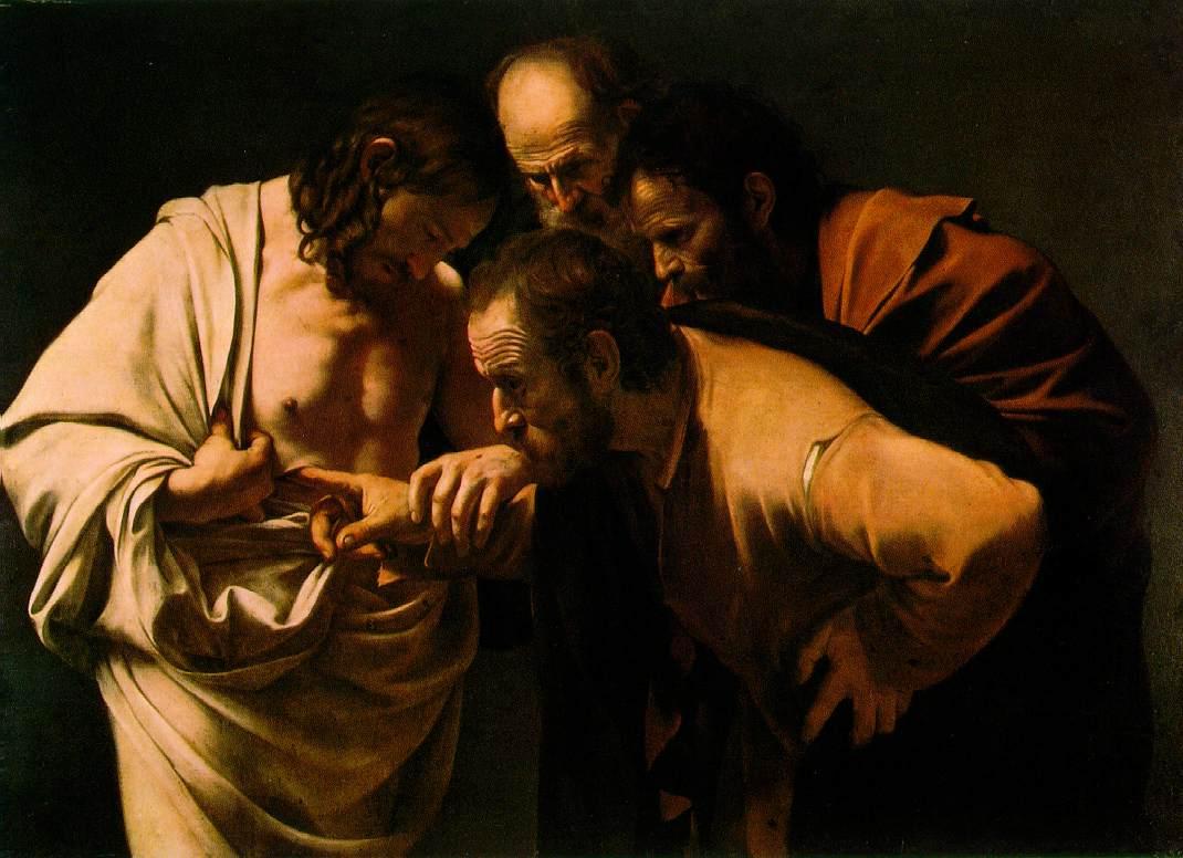 Gesù risorto e Tommaso_Caravaggio